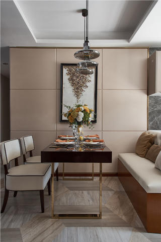 现代三居装修餐厅背景墙图片