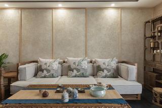 150平中式风格家沙发背景墙图片