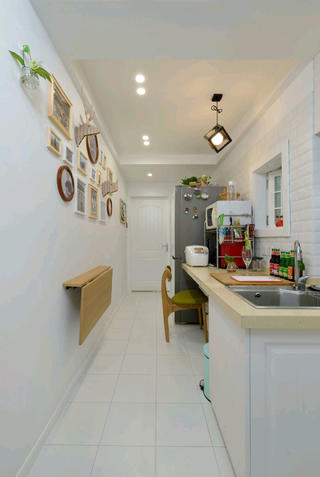 北欧二居室小户型装修吧台图片