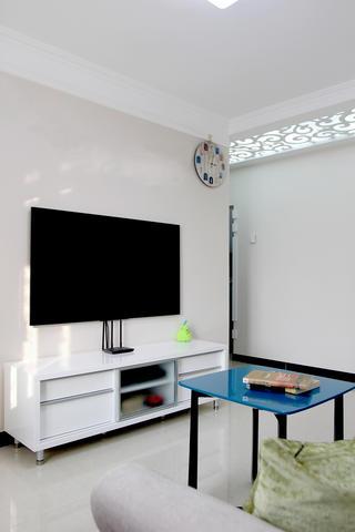 60平小户型装修电视背景墙图片