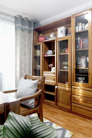 60平小户型装修书柜图片