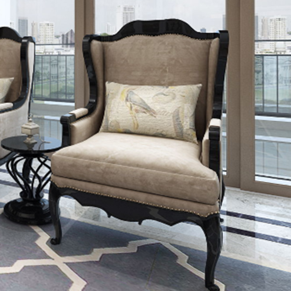 欧式三居室装修单人沙发图片