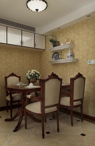 一居室美式之家餐厅背景墙图片