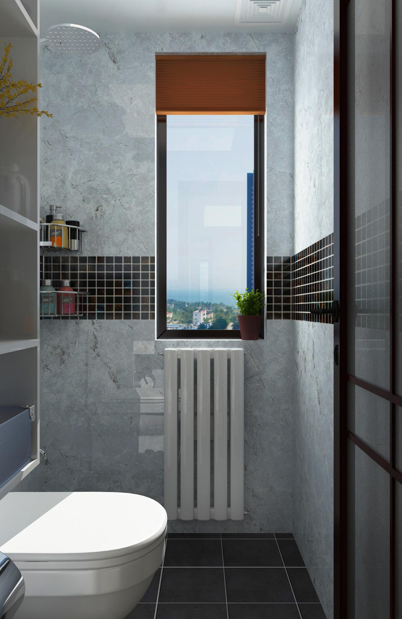 一居室美式之家卫生间墙面设计