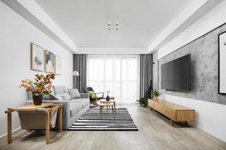 简约舒适北欧二居装修客厅效果图