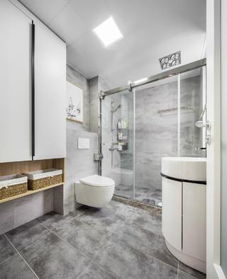 简约舒适北欧二居装修卫生间效果图