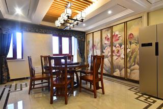 大户型中式风装修餐厅效果图