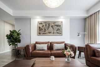 120平简约装修沙发背景墙图片