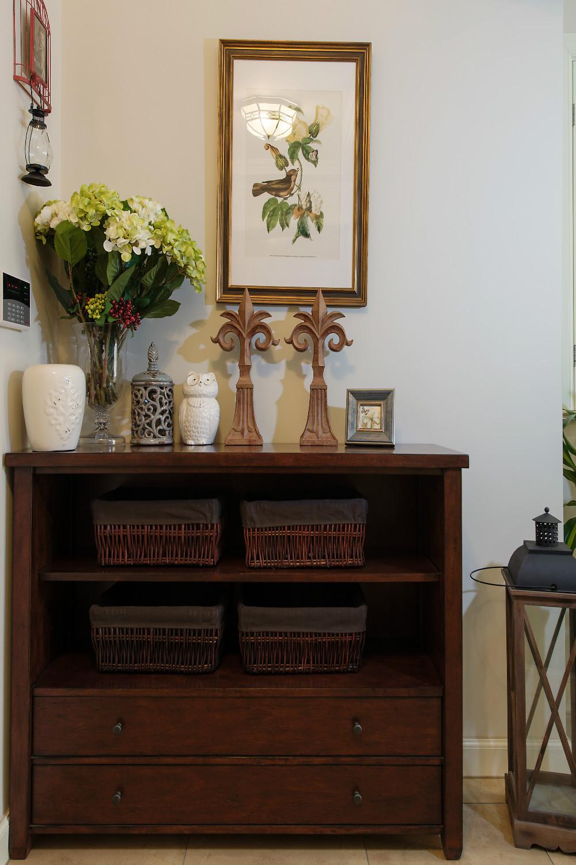 美式复式装修储物柜图片