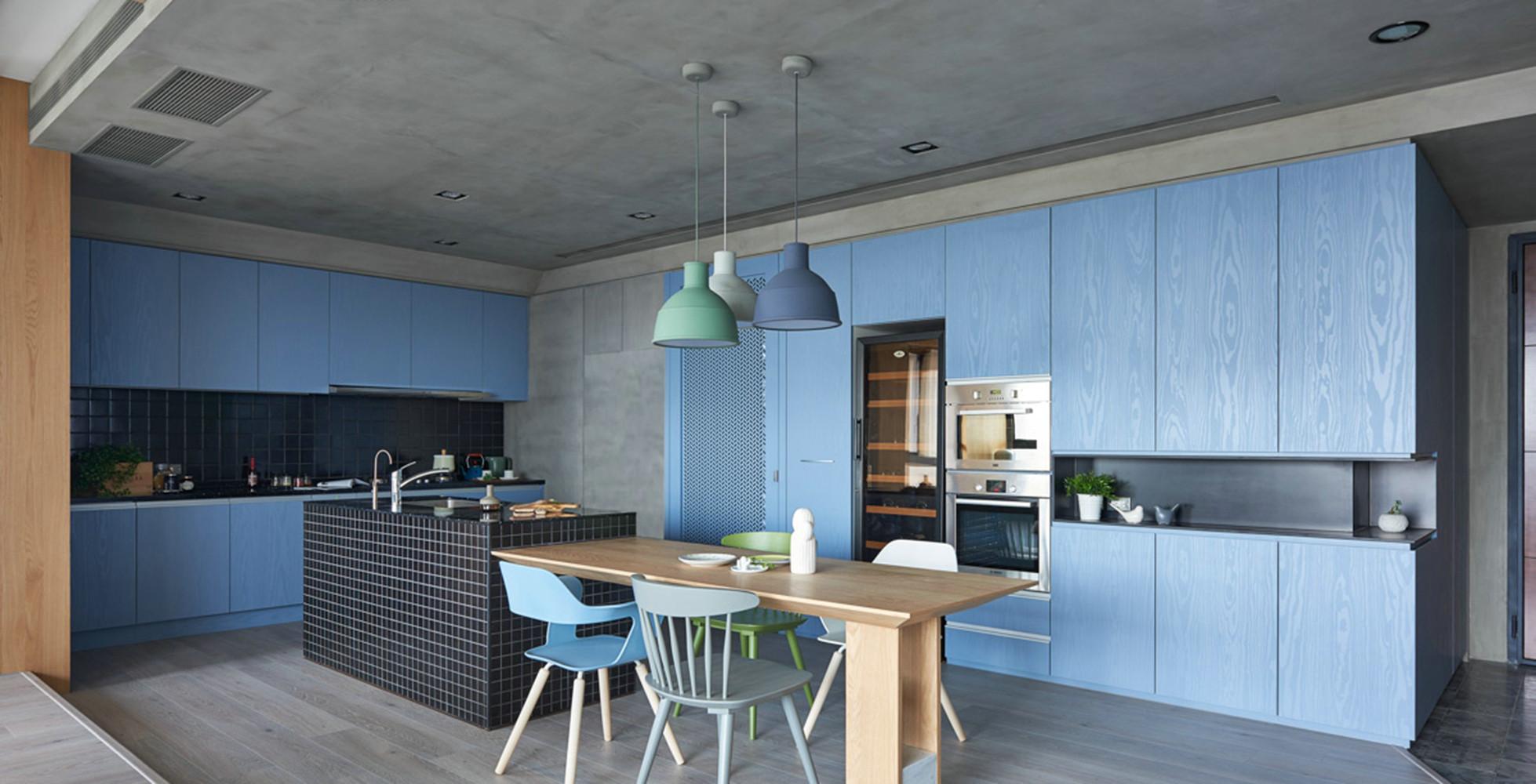 现代简约三居装修厨房效果图