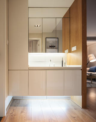 简洁北欧二居装修浴室柜图片