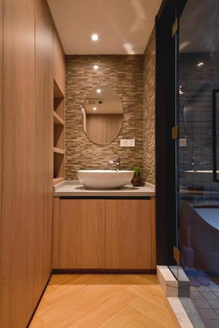 70平一居室小家洗手台图片