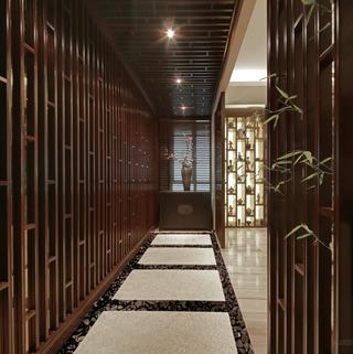 大户型新中式走廊图片