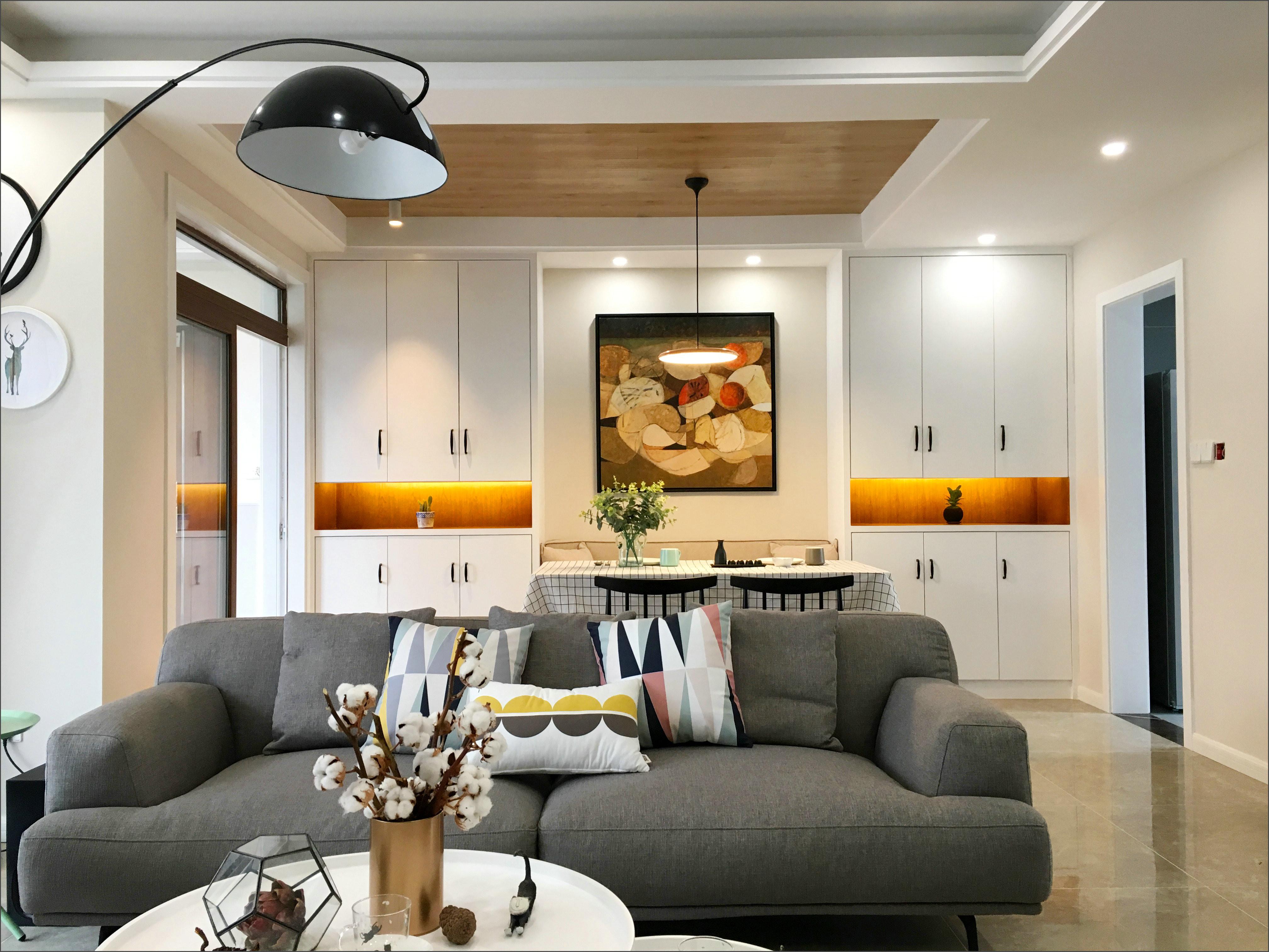 110㎡三居室装修沙发图片