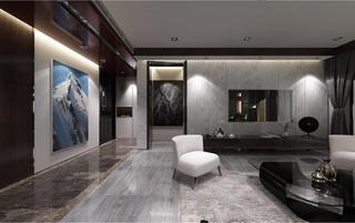 黑白灰调现代风格装修电视背景墙图片