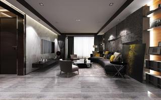 黑白灰调现代风格装修客厅效果图