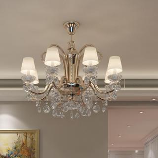 欧式三居室装修水晶吊灯图片