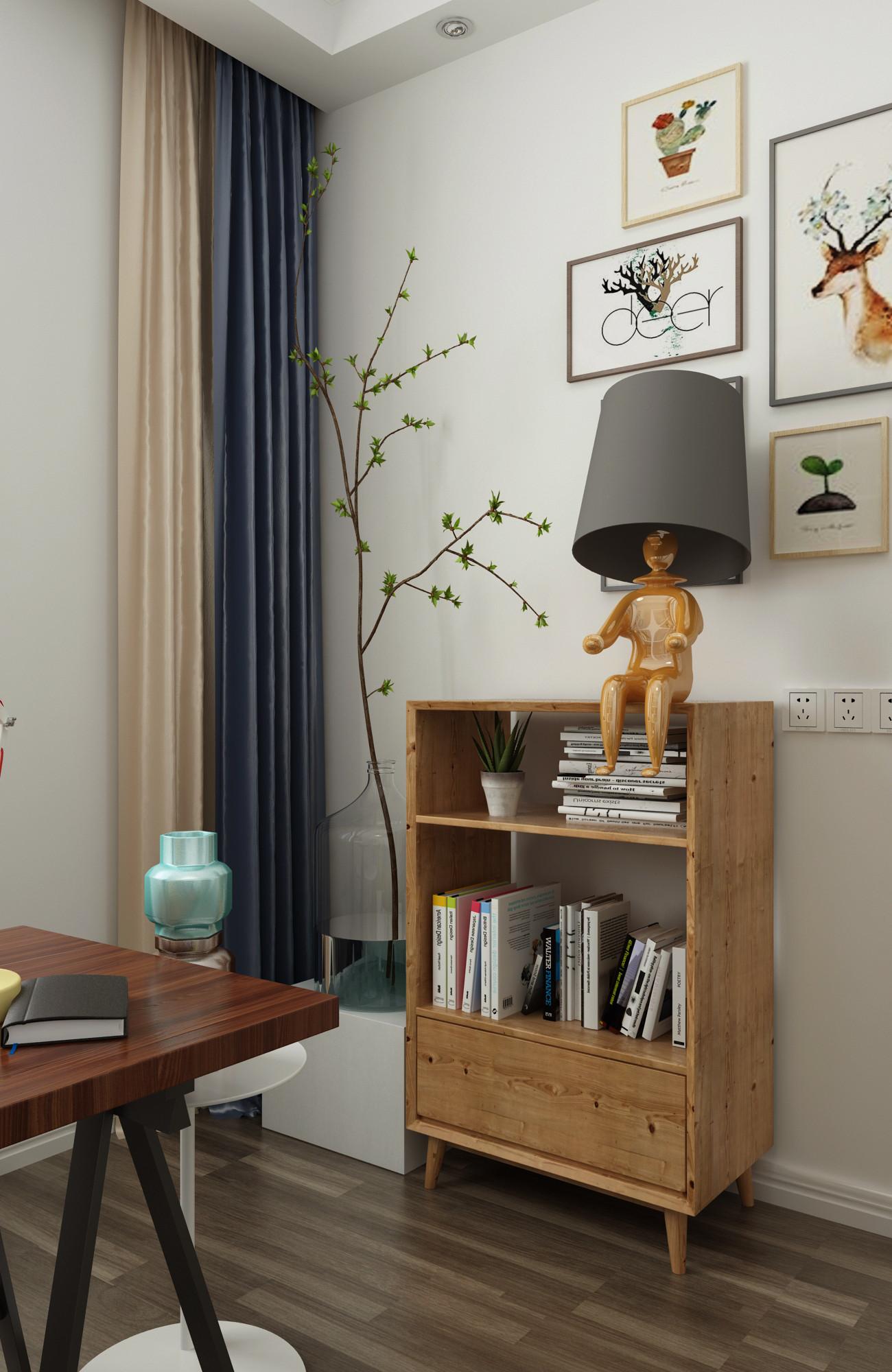 北欧二居室装修台灯图片