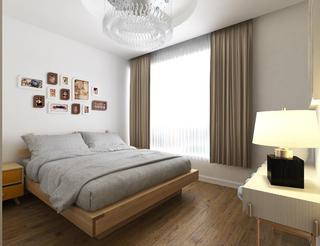 大气简约现代风格装修卧室效果图