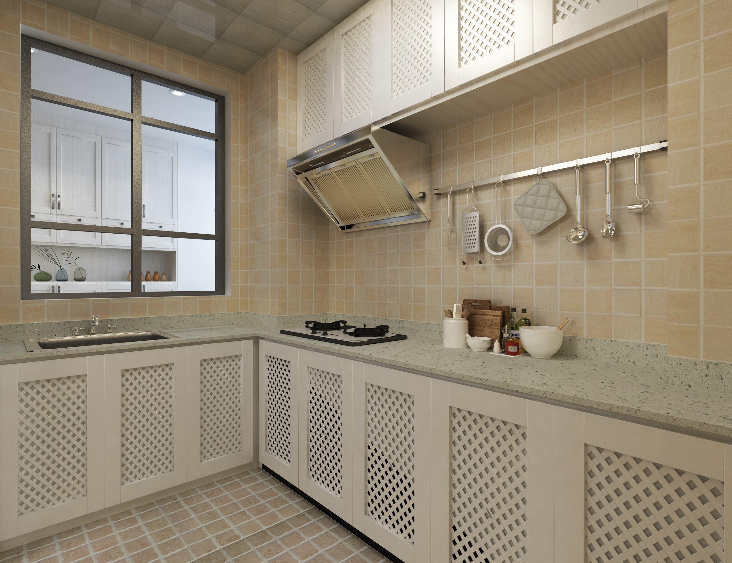 大气简约现代风格装修厨房效果图