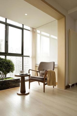 日式二居装修客厅休闲一角