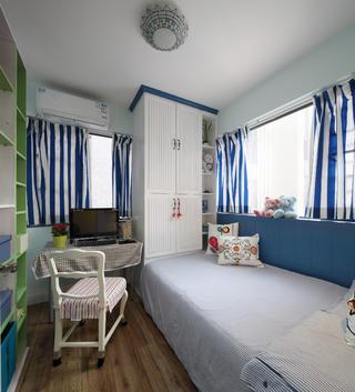 110㎡二居室装修书房布置图