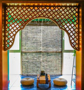 157平东南亚风格装修阳台布置图