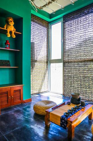 157平东南亚风格装修阳台茶室