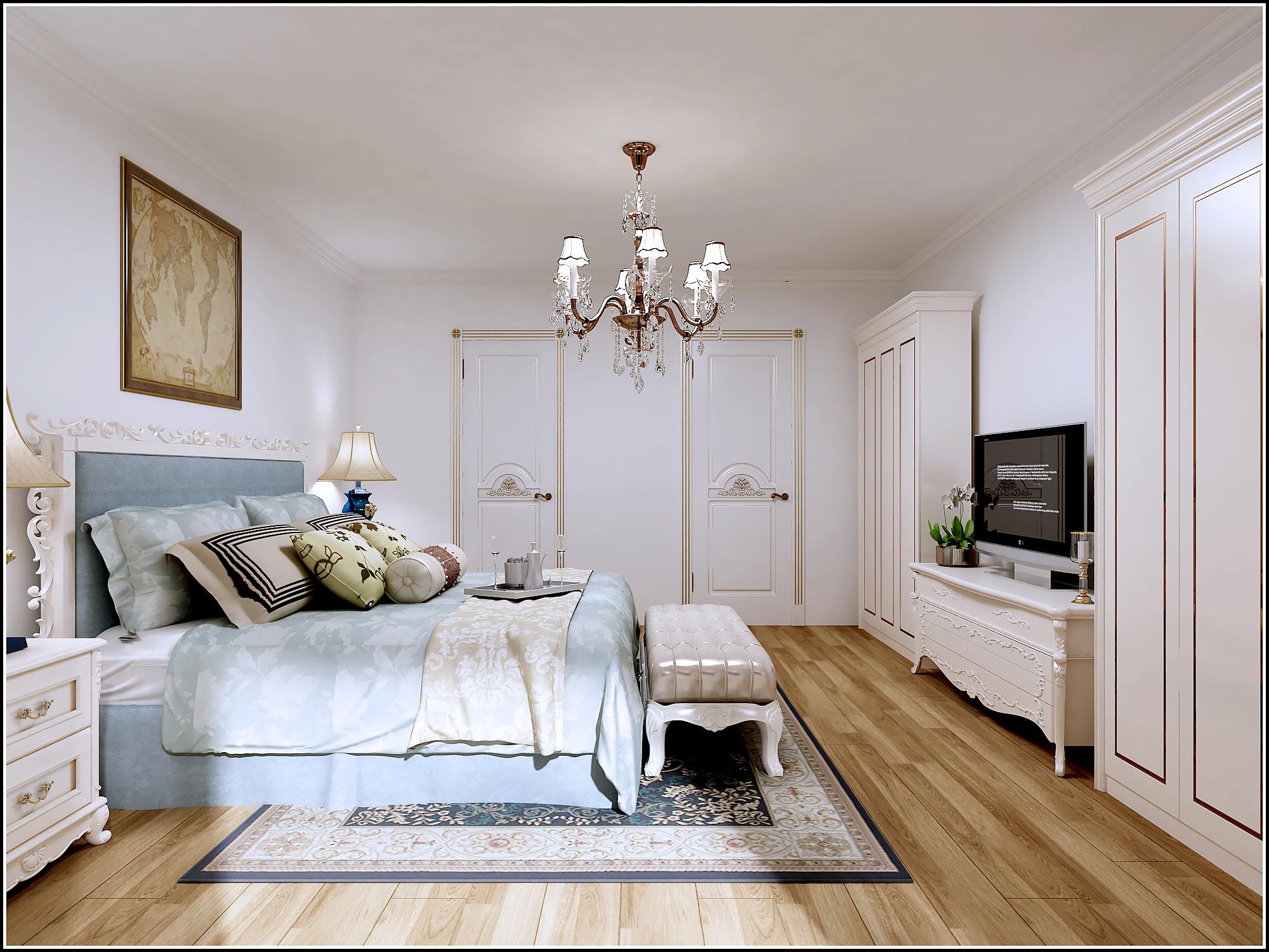 新古典三居装修卧室效果图