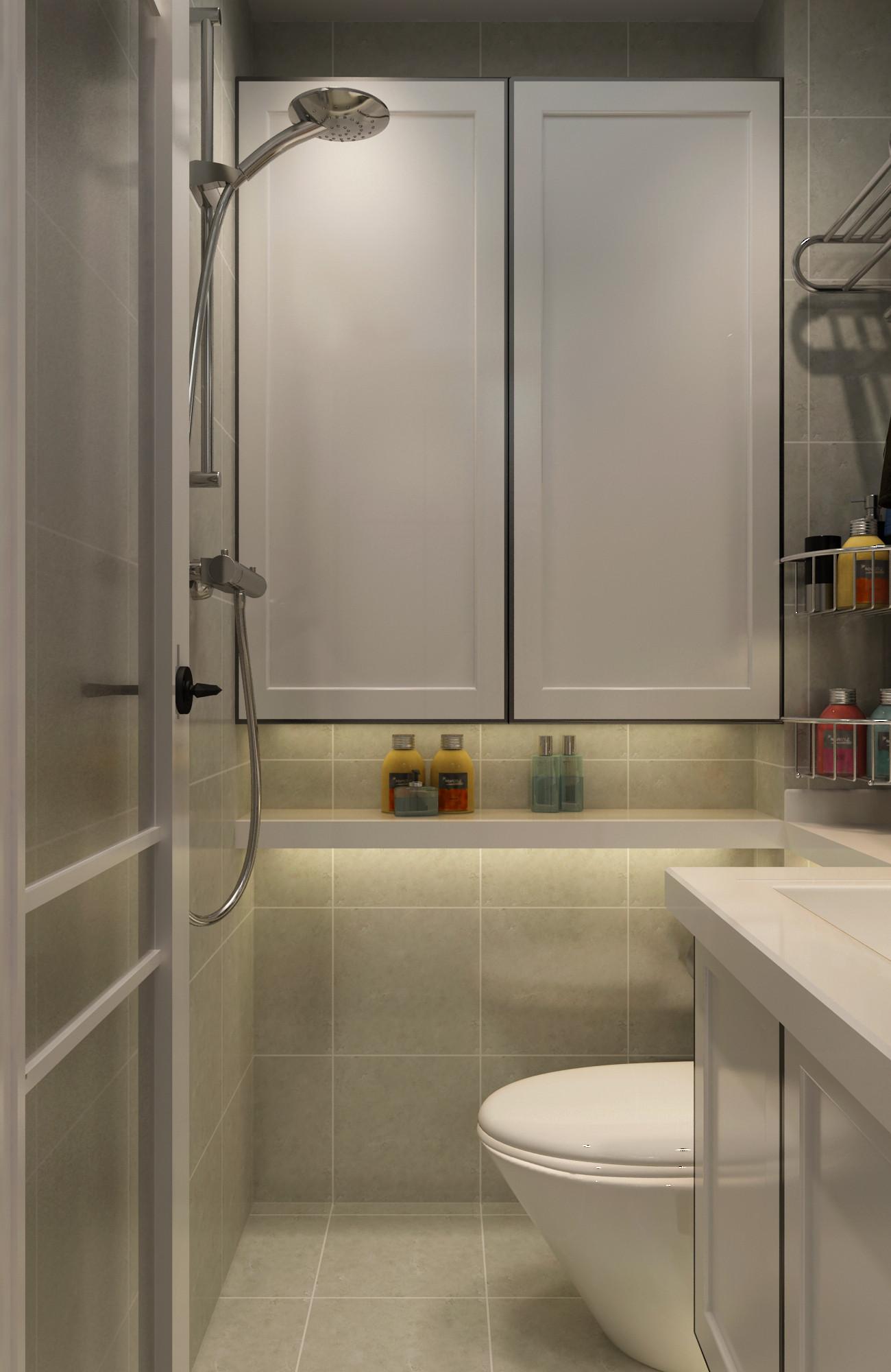 一居室小户型装修浴室柜图片