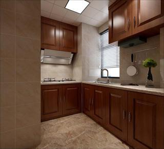 130㎡中式风格装修厨房设计图