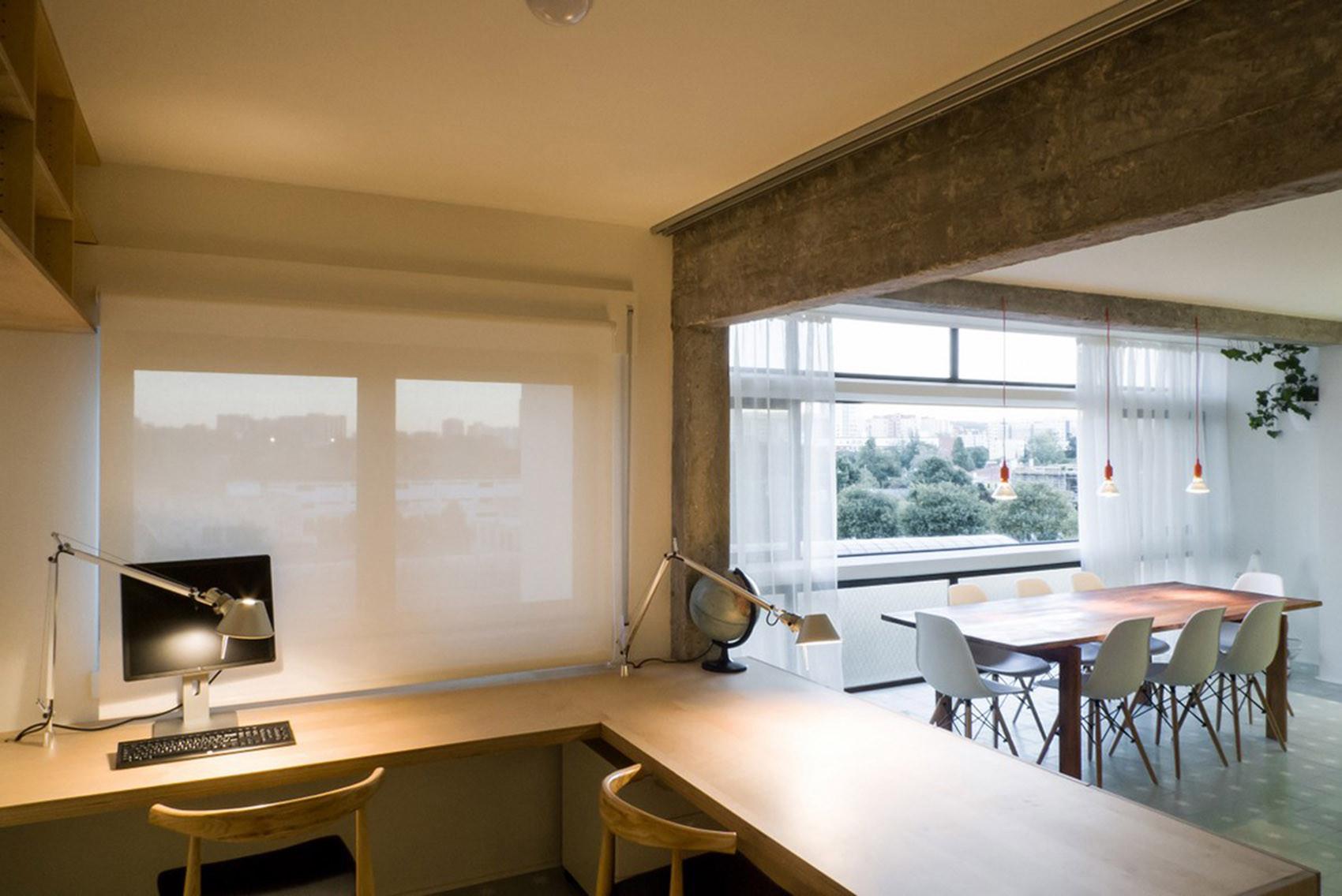 公寓简约装修书桌图片