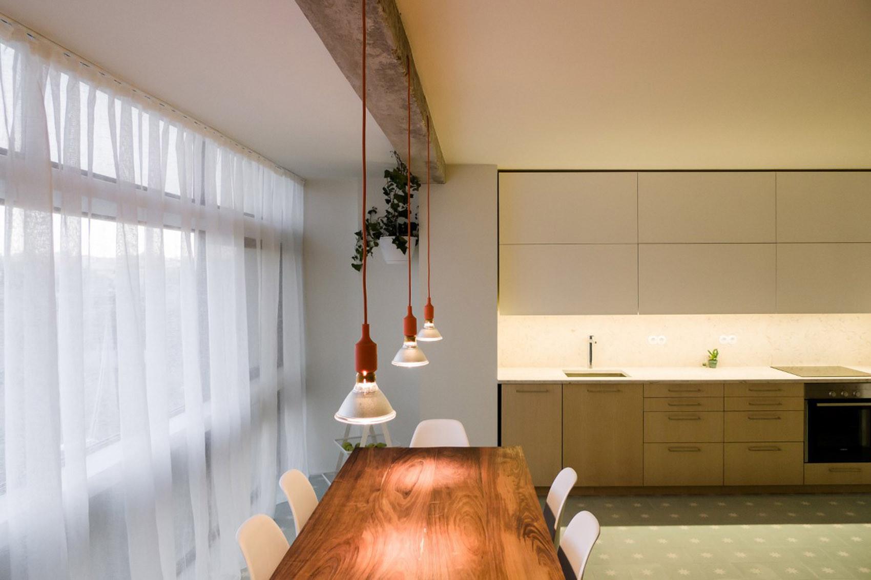 公寓简约装修餐厅吊灯图片
