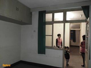 110㎡老房改造设计客厅改造前旧貌
