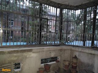 110㎡老房改造设计主卧阳台改造前