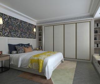 现代简约别墅装修卧室效果图