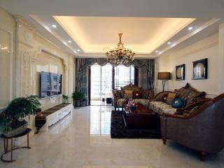 混搭三居室装修客厅实景图