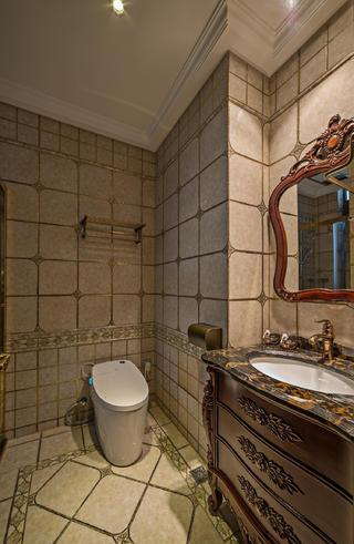 美式古典别墅装修客卫设计图