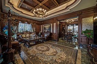 美式古典别墅装修客厅效果图
