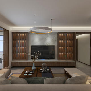 130平中式装修设计 清心雅居