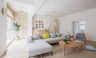 日式三居装修沙发图片