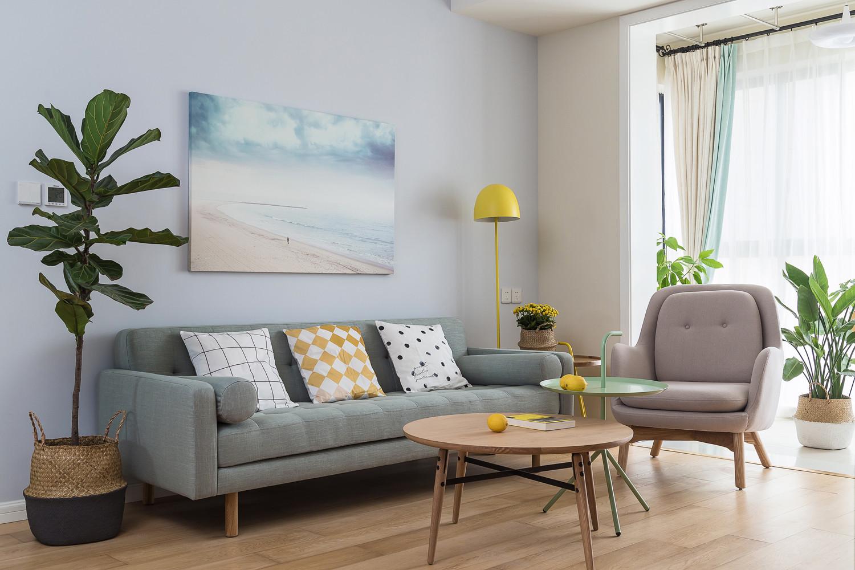 北欧三居室装修沙发背景墙图片