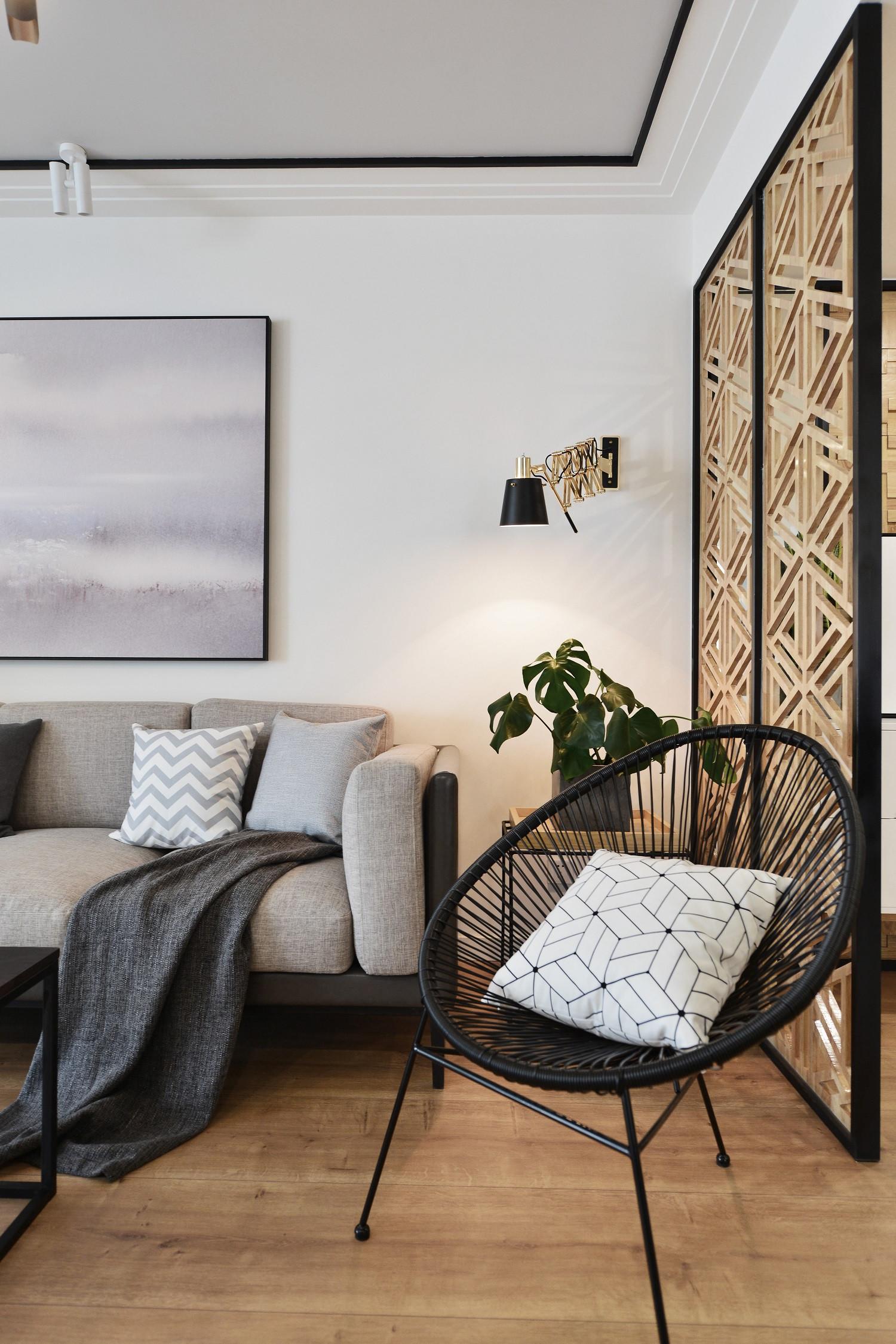 简约三居装修单人椅图片