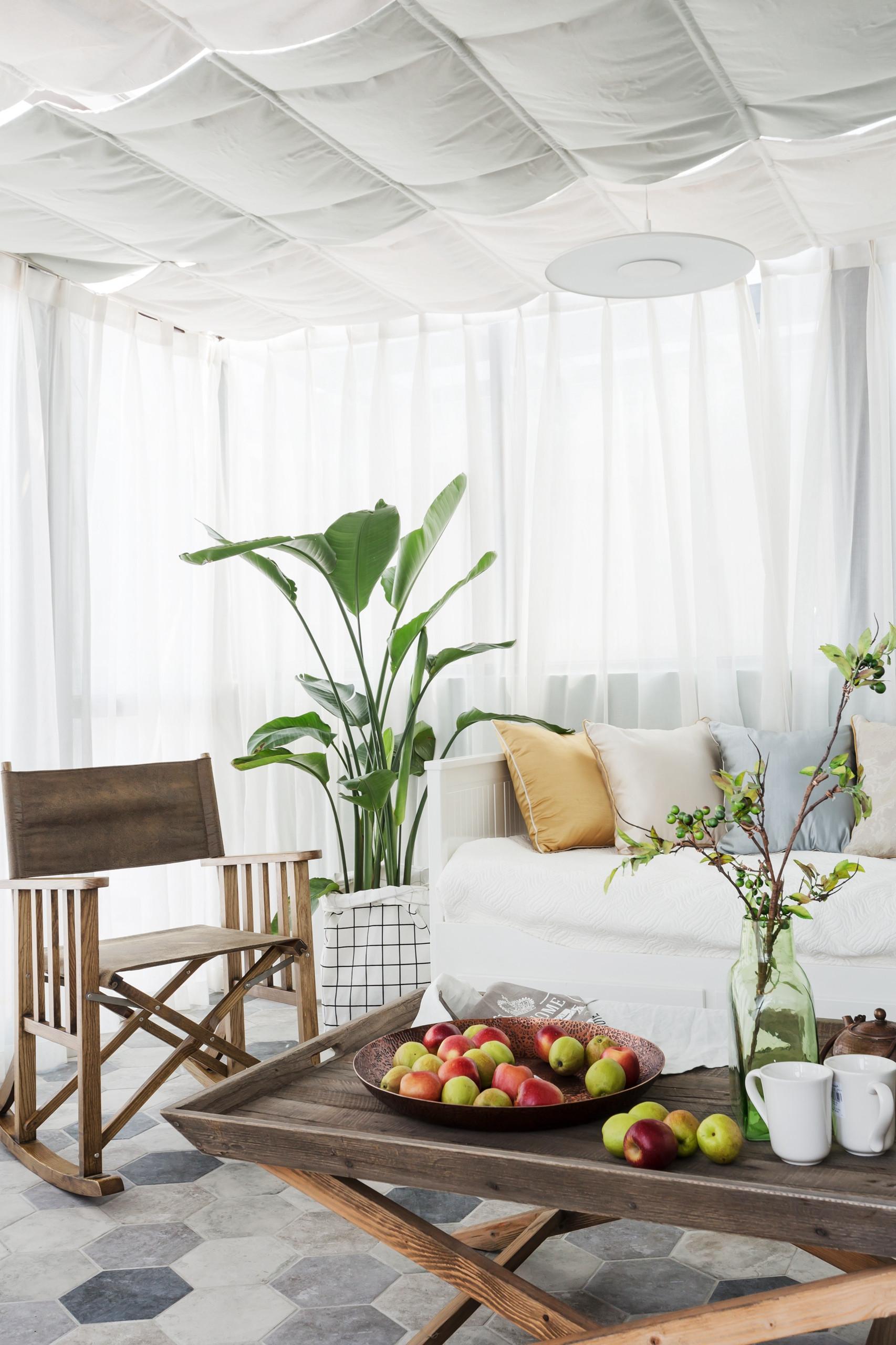 轻奢美式三居装修阳光房欣赏图