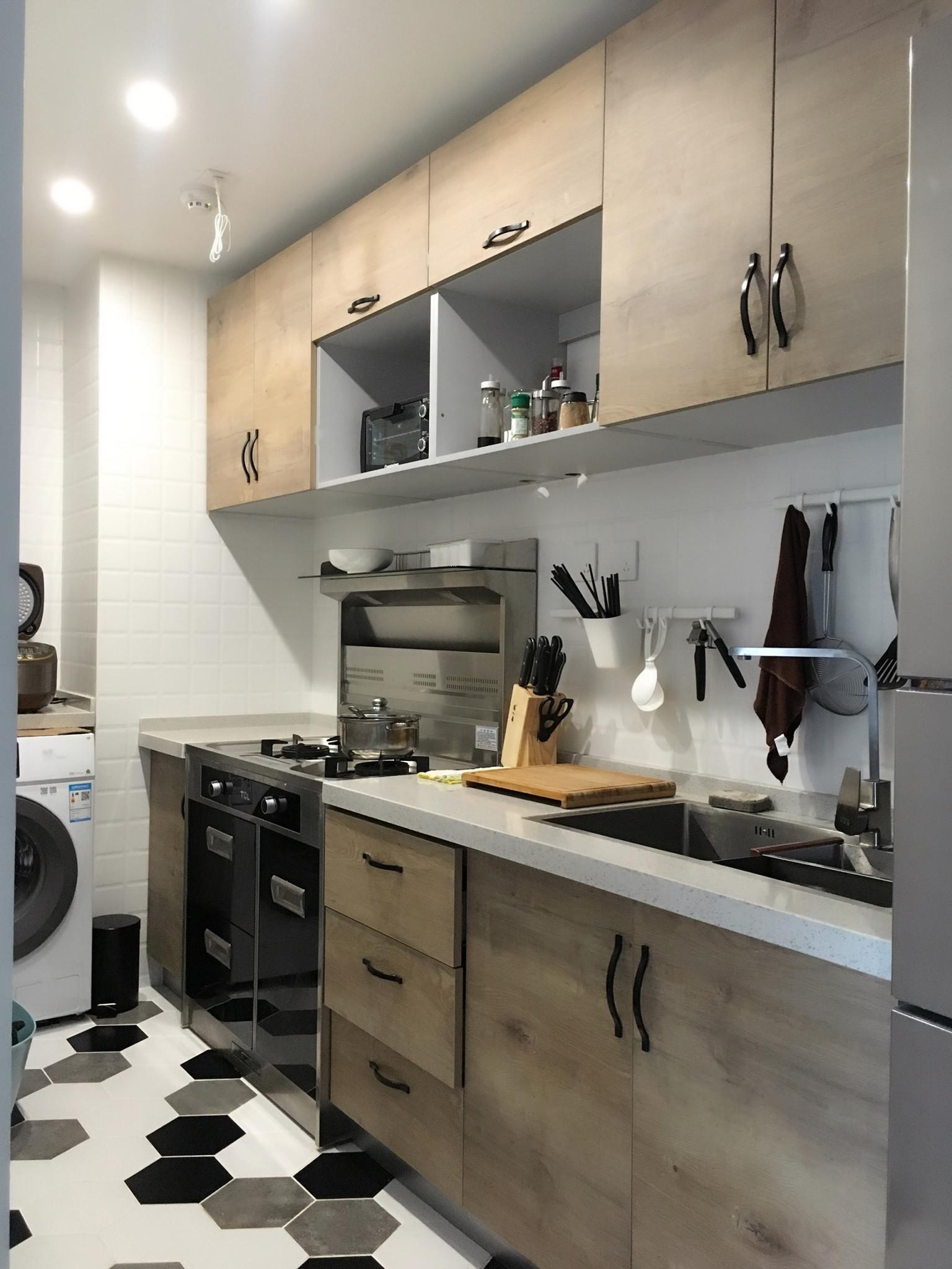 70平简约趣味家装修厨房效果图
