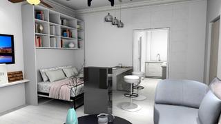一居室小户型装修吧台图片