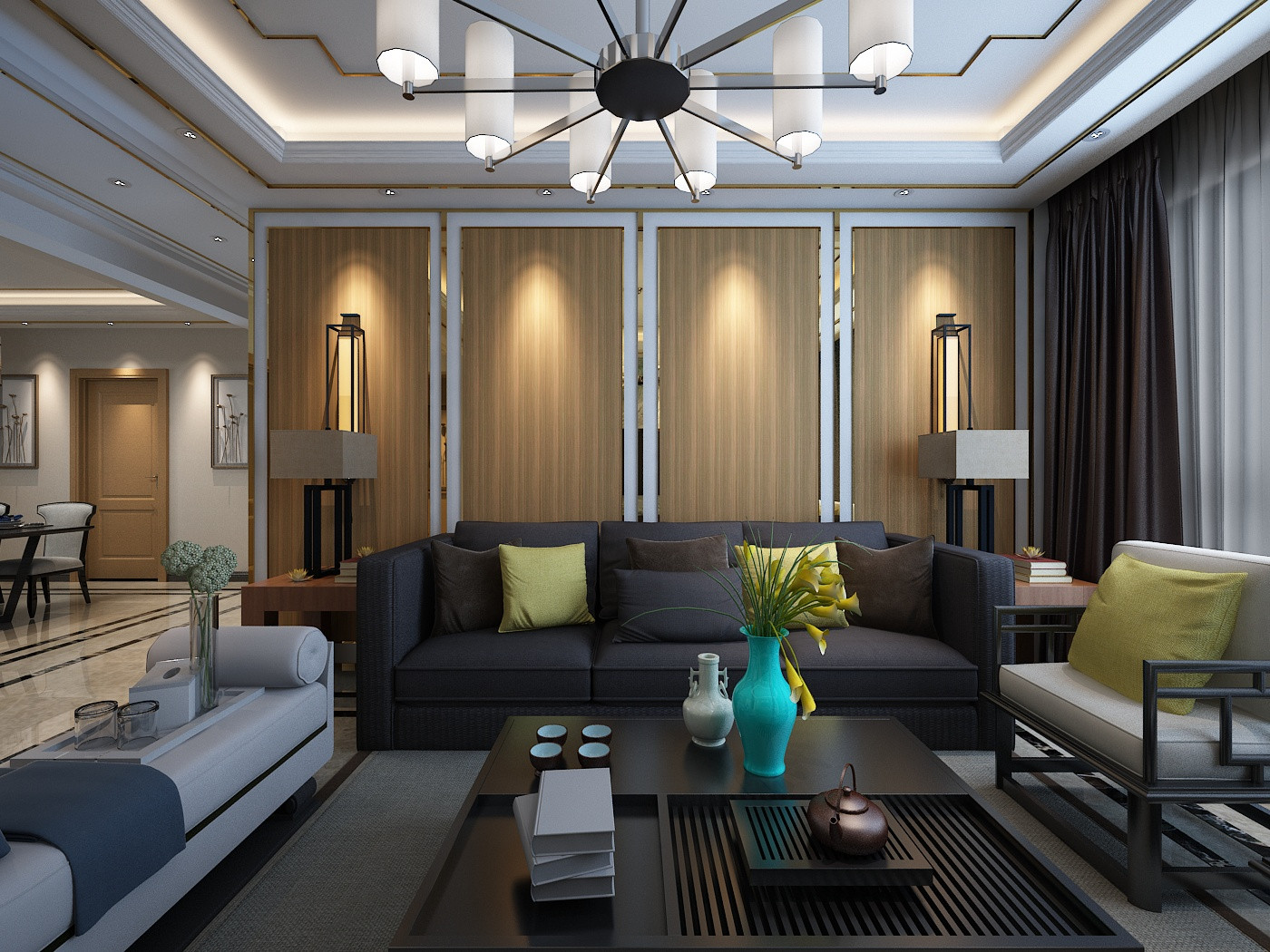 现代简约装修沙发背景墙图片