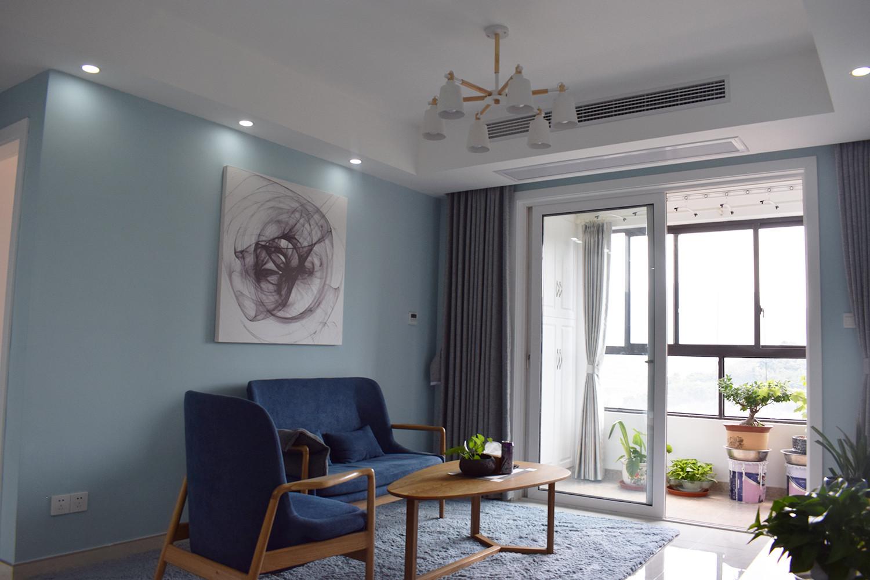 110平北欧风格装修沙发背景墙图片