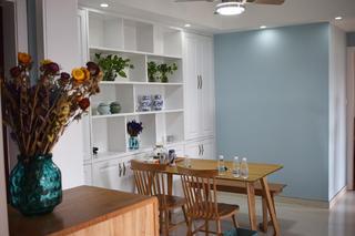 110平北欧风格装修餐厅背景墙图片