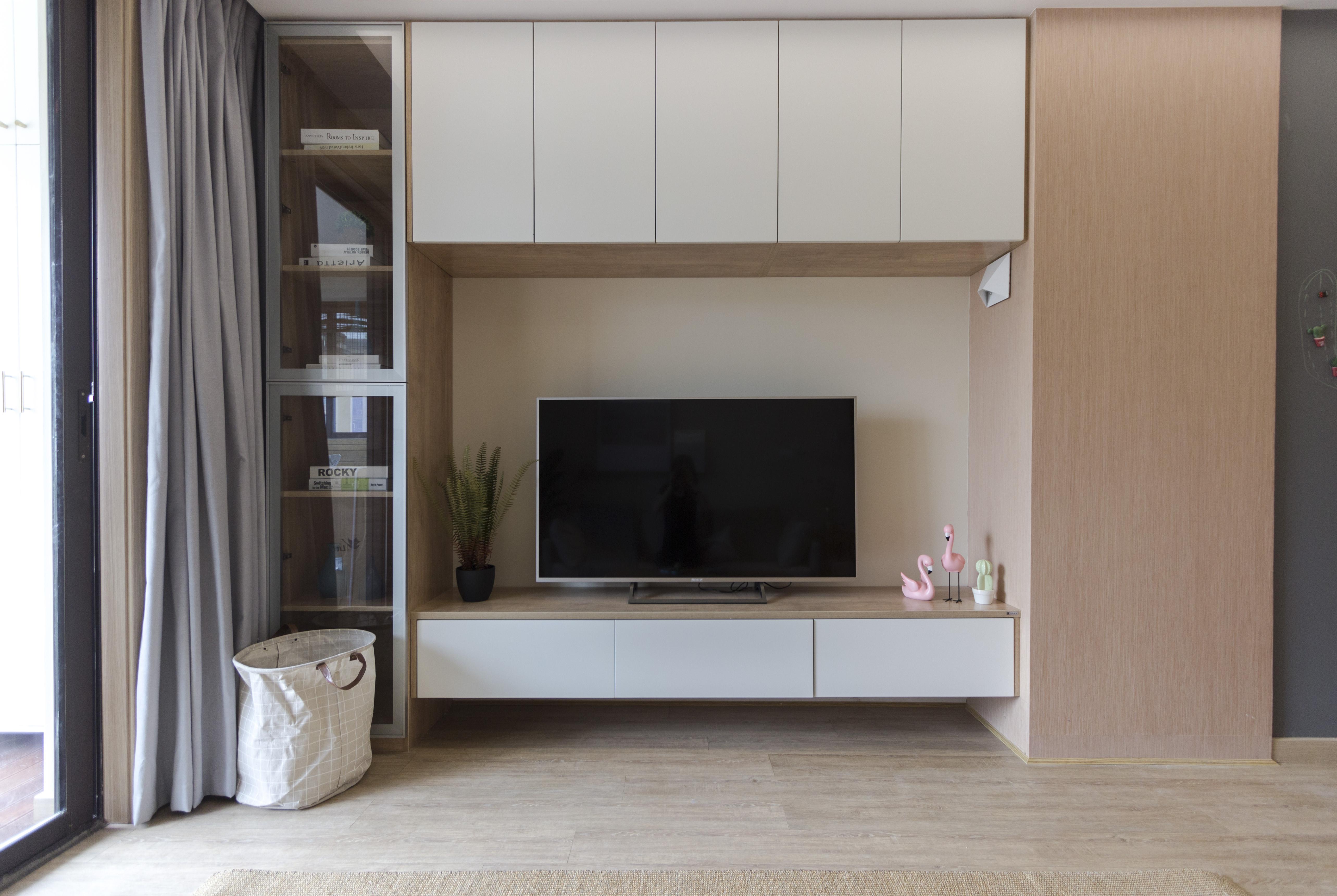 北欧三居室装修电视背景墙图片